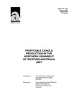 Profitable canola production in the northern grainbelt of Western Australia 2001