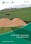 Audit of WA agricultural lime quality 2013