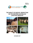 The impact of biofuel production on the Western Australian livestock industry by Wim Burggraaf and Anne Wilkins