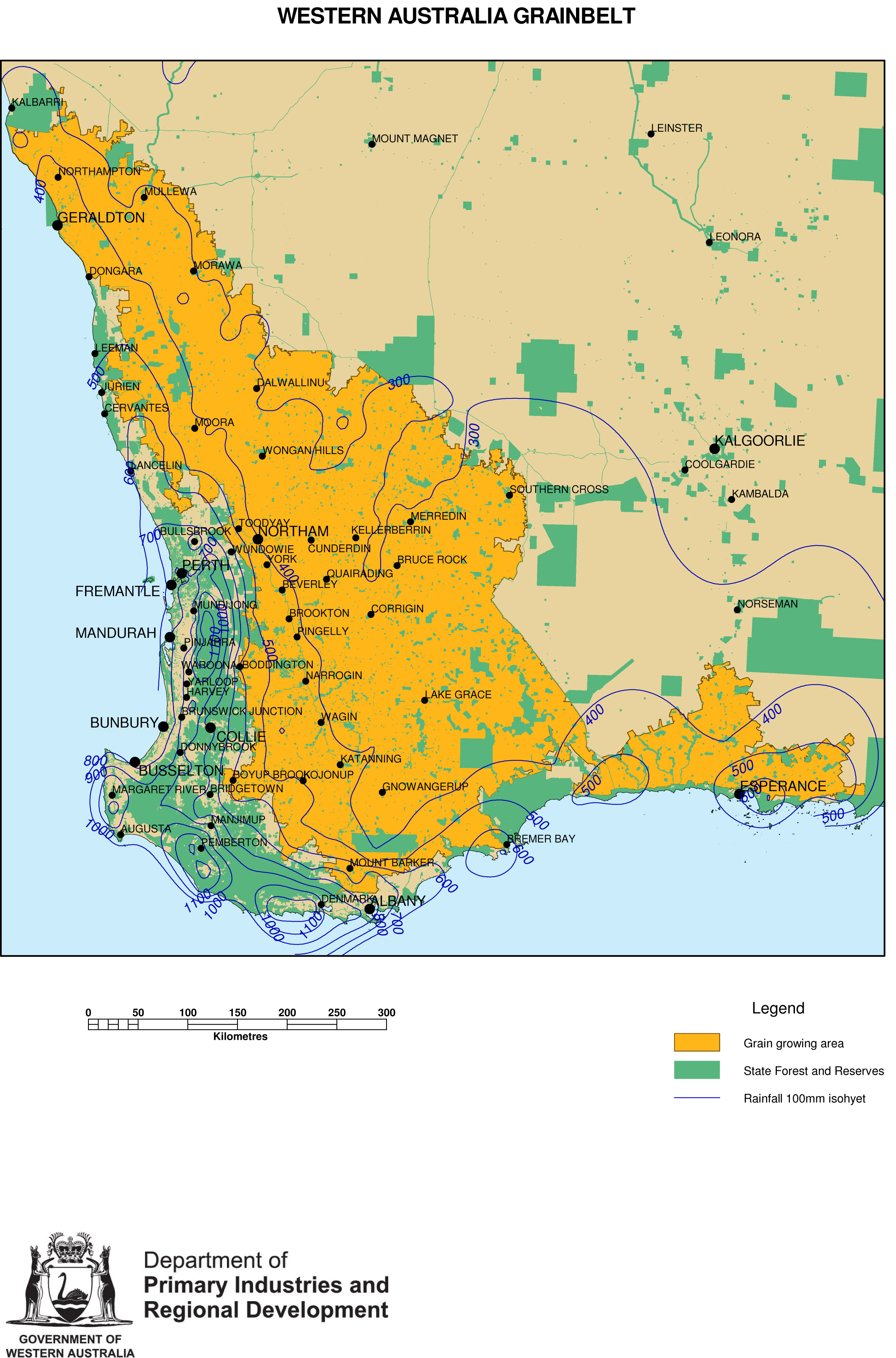 Wheatbelt Of Western Australia By Department Of Agriculture And - Map of western australia