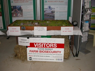 Wagin Woolorama 2006 promotiong farm biosecurity